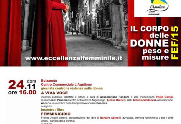 Il 24 novembre Il Corpo delle Donne - Peso e Misure